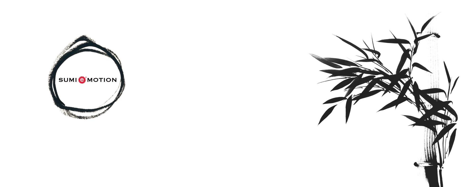 竹の水墨画とロゴマーク2
