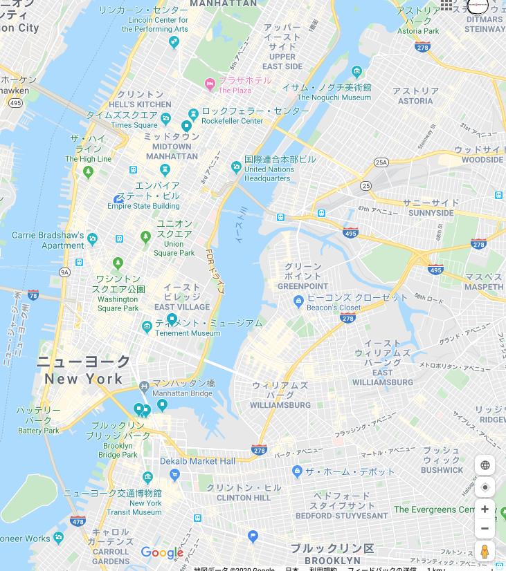ニューヨーク地図